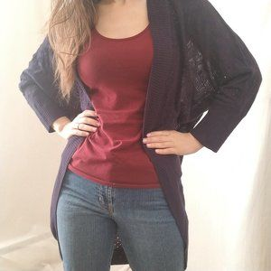 Charming Charlie Open Front Duster Cardigan